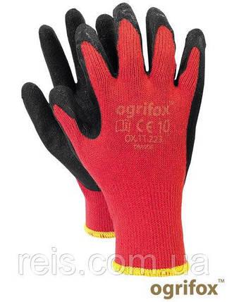 Перчатки OX-DRAGOS CB трикотажные с латексным покрытием, черно-красного цвета, REIS, р.10, фото 2