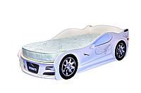 Кроватка машина Ягуар белый