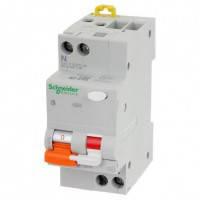 Дифференциальный автоматический выключатель  Shneider electric АД63 2п 40А 30мА