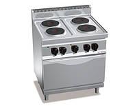 Плита электрическая GGM EHB879E+EB4U 4 конфорки (10,4 кВт) + шкаф духовой с конвекцией электрической (3,5 кВт)