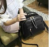 Небольшая женская сумка через плечо. Маленькая сумочка через плечо. Стильные сумки. Женские сумки., фото 3