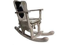 Крісло-Гойдалка (Качалка) дерев'яна лакована під старовину