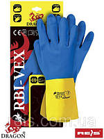 Перчатки желто-синие RBI-VEX с неопренового каучука и латекса - REIS, размер 10