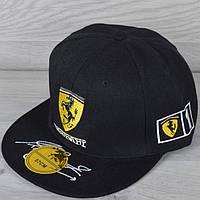 """Реперка взрослая """"Ferrari"""". Размер 57-58 см. Черная. Оптом и в розницу."""