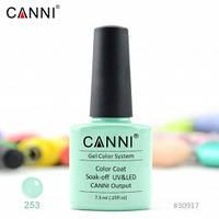 Гель-лак CANNI 253 мятный кремовый