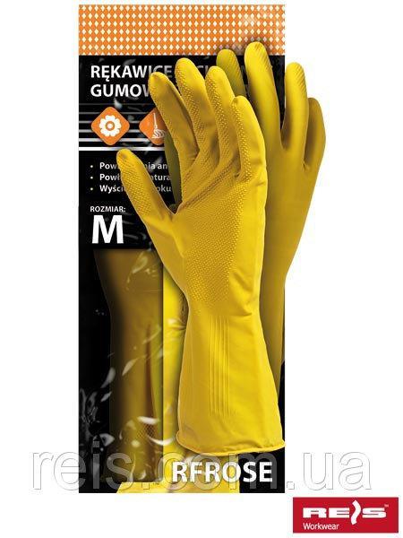 Перчатки RFROSE из латекса, желтого цвета - REIS, размер L