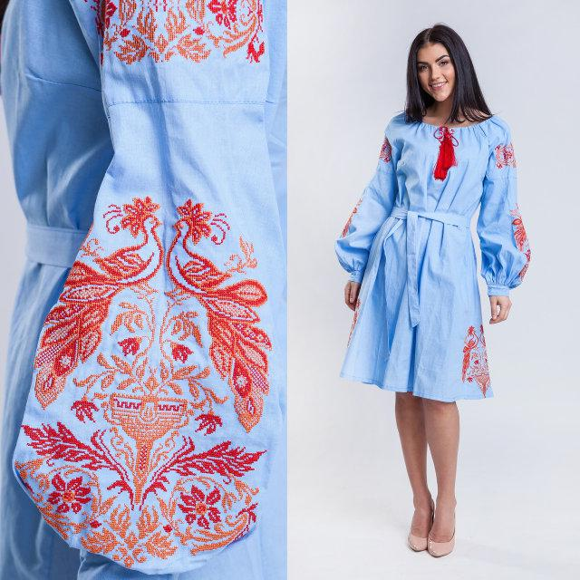 Платье вышиванка с украинским орнаментом Жар-птица a84dd748395ce