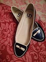 Туфли балетки женские синие лаковые 35 р новые , фото 1