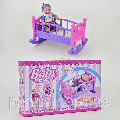 Пупс с кроваткой для девочки. Игровой набор детский, пупсик, игрушка для детей, фото 2