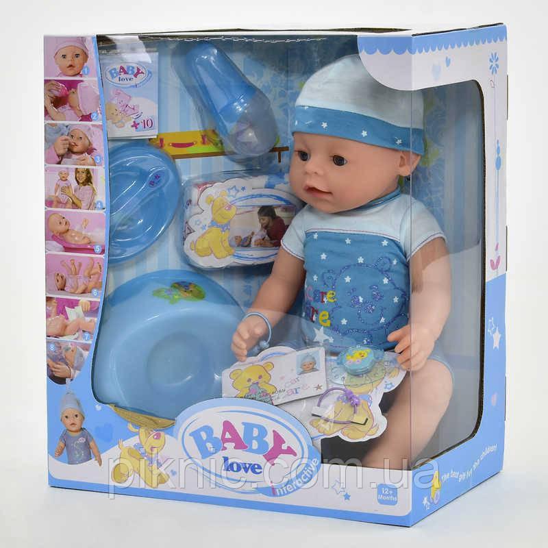 Пупс с аксессуарами для девочки. Пупсик детский, кукла, куколка, игрушка аналог Baby born
