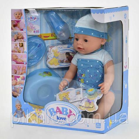 Пупс с аксессуарами для девочки. Пупсик детский, кукла, куколка, игрушка аналог Baby born, фото 2