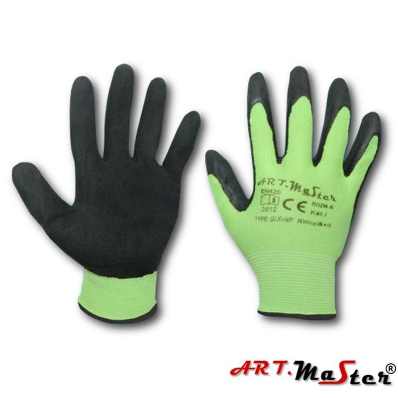 Перчатки RWNYL B + S с латексным покрытием, черно-зеленого цвета, ARTMAS, р.10