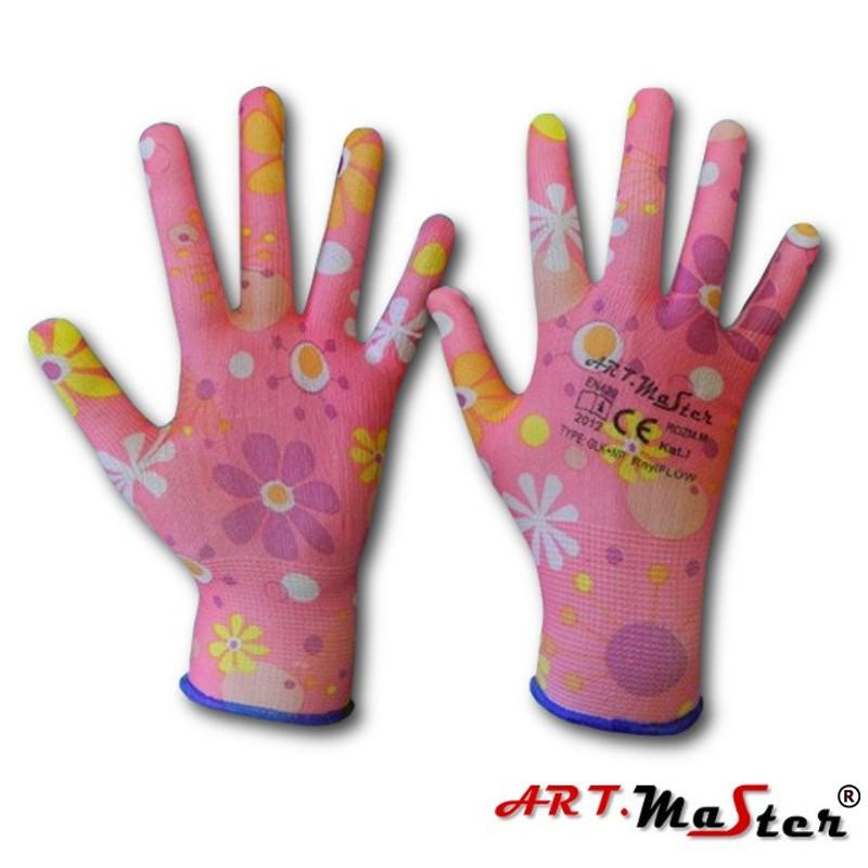 Перчатки защитные Rny Flow с латексным покрытием (красочные), размер S