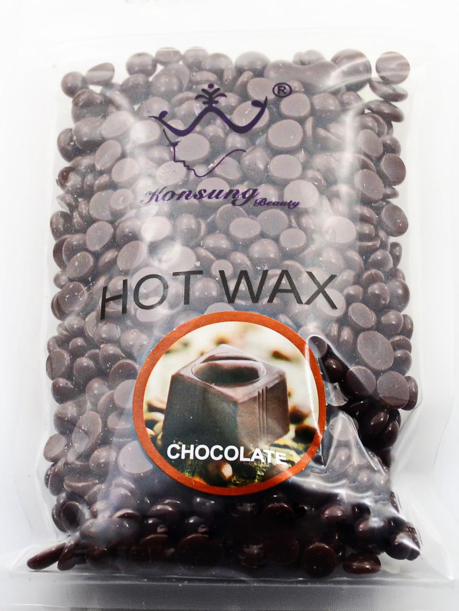 Горячий пленочный воск в гранулах Hot Wax  500 грамм Шоколад