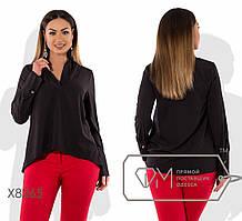 Женская батальная блузка из шелка