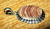 Серебряный овальный кулон с родохрозитом  от студии LadyStyle.Biz, фото 1