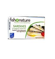 Органическая скумбрия в оливковом масле, Fish&Nature, 115 гр