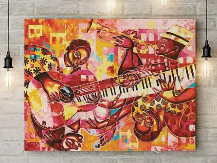 "Картина по номерам ""Музыкальная абстракция"" 40х50 см"