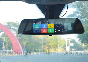 "Видеорегистратор зеркало 7"" Android T518, фото 2"