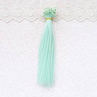 Волосы для кукол в трессах, светлая мята - 20 см