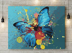 """Картина по номерам """"Голубая бабочка"""" 40х50 см"""