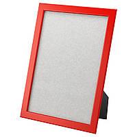 ФИСКБУ Рамка для фотографий, красный, 21x30 см 80300368 ИКЕА, IKEA, FISKBO