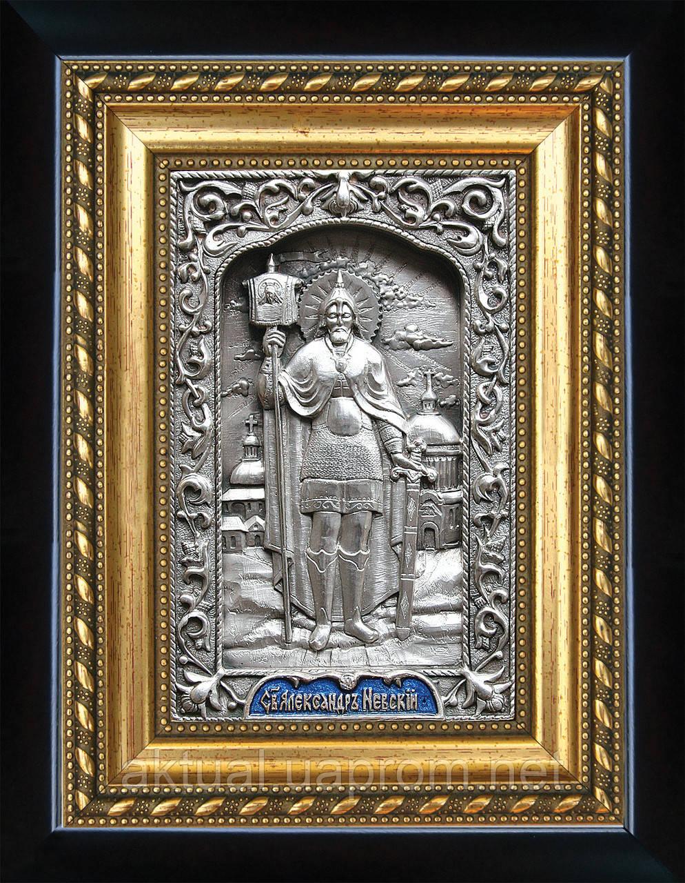 Святой Александр Невский  ростовая икона