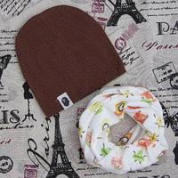 Демисезонный набор:Комплект: детская шапкаи хомут влаговпитывающий