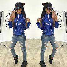 """Спортивная женская куртка-ветровка """"аdidаs"""" с капюшоном (2 цвета), фото 3"""