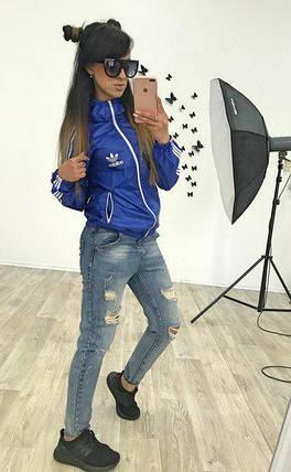 """Спортивная женская куртка-ветровка """"аdidаs"""" с капюшоном (2 цвета), фото 2"""