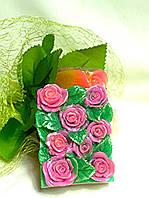 """Глицериновое мыло ручной работы  """"Розовая поляна""""."""