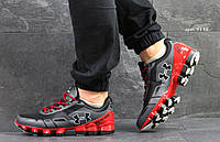Мужские кроссовки Under Armour серые с красным ( Реплика ААА+)