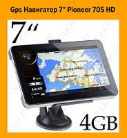 "Gps Навигатор 7"" Pioneer 705 HD!Акция"
