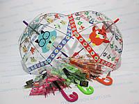 Детский прозрачный зонт куполообразный  3-7 лет Angry Birds - Злые птички, дракончик, тигренок, снеговик, фото 1
