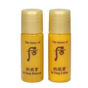 The history of Whoo Тоник 5ml + Лосьон 5ml Мини-версии Набор 2 Gongjinhyang In Yang Balancer & Lotion