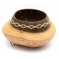 Декоративное блюдо из кокоса