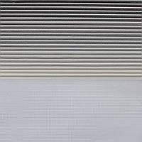 Рулонные шторы День-Ночь Ткань Диамант NZ-7312 Серый