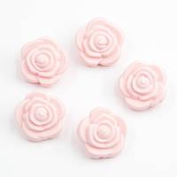 """Силиконовые бусины """"Розочки"""" нежно розовые 21х12 мм, фото 1"""