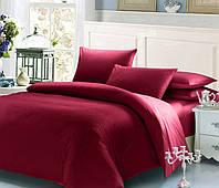 Красный комплект постельного белья семейный 145х210х2 BOSTON Jefferson Sateen