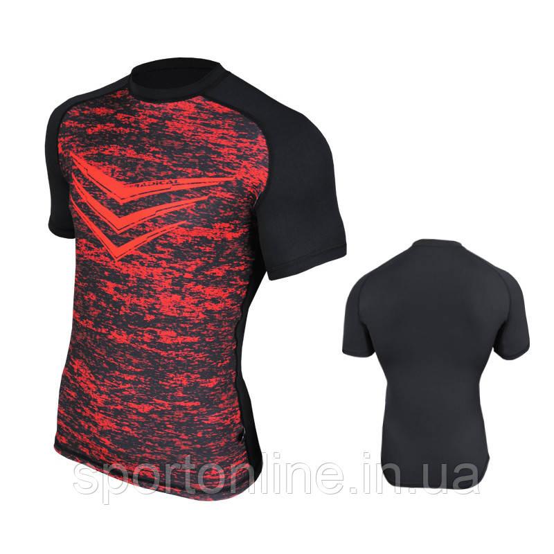 Спортивная мужская термо-футболка Radical Rashguard Smite SS, красная