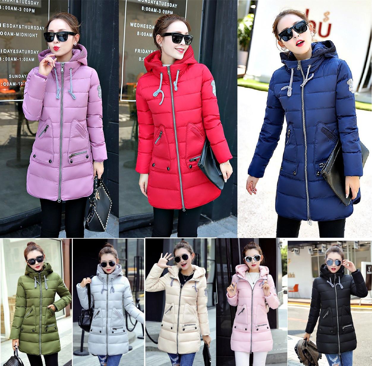 696df50d Тёплая зимняя куртка 3D визуальный эффект с манжетом съёмный капюшон ...
