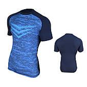 Спортивная мужская термо-футболка Radical Rashguard Smite SS, синяя