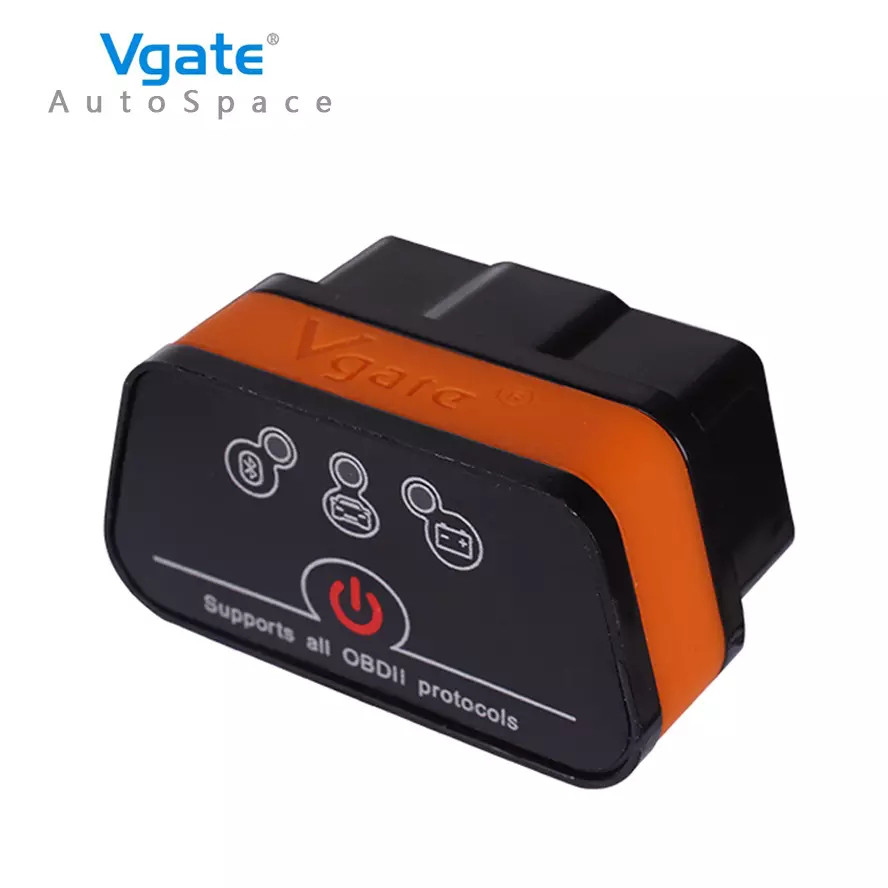 Діагностичний автосканер Vgate iCar2 ELM 327 OBD2 V2.1 Bluetooth для Android Orange