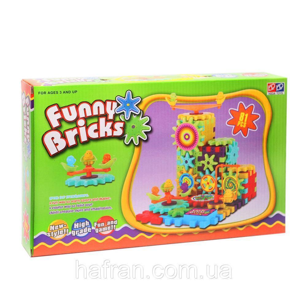 Детский развивающий конструктор Funny Bricks (81 дет.)