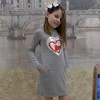 Платье- джерси  (серое), фото 1
