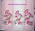 """Подарочный набор полотенец""""Isabella"""" (баня+2 лица) TWO DOLPHINS, Турция розовый 0171, фото 2"""