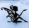 Топпер сидящая девушка-эльфийка , на палочке,