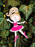 Топпер балеринка цветная, ручная покраска, фото 1