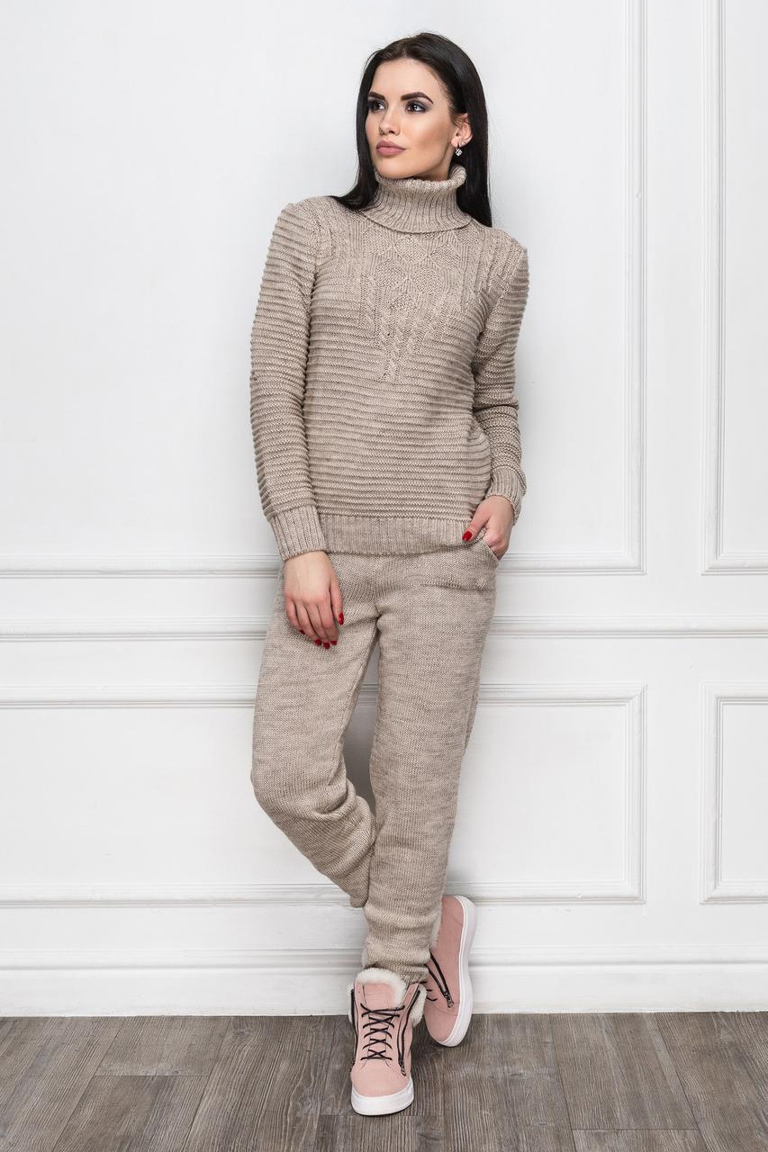 Теплый женский костюм вязка ЕЛ Katrin-12