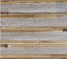 """Рулонные обои из дерева """"Серые"""" (натуральный бамбук,джут)"""